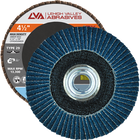 "4.5"" x 5/8""-11 Threaded Zirconia High Density Flap Disc Conical 