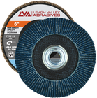 "6"" x 5/8""-11 Threaded Zirconia High Density Flap Disc Conical 