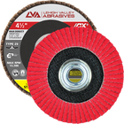 "4.5"" x 5/8""-11 Threaded Ceramic High Density Flap Disc Conical 