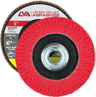 "5"" x 5/8""-11 Threaded Ceramic High Density Flap Disc Conical 
