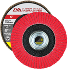 "6"" x 5/8""-11 Threaded Ceramic Flap Disc Type 29 Conical | 60 Grit T29 | LVA CFCAS60S060CP"