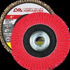 "6"" x 5/8""-11 Threaded Ceramic High Density Flap Disc Conical | 36 Grit T29 | LVA CFCAS60J036CP"