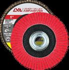 "6"" x 5/8""-11 Threaded Ceramic High Density Flap Disc Conical | 80 Grit T29 | LVA CFCAS60J080CP"