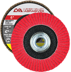 "6"" x 5/8""-11 Threaded Ceramic High Density Flap Disc Conical | 120 Grit T29 | LVA CFCAS60J120CP"