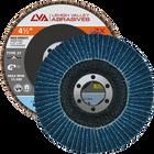 "4.5"" x 7/8"" Zirconia High Density Flap Disc Type 27 Flat | 120 Grit T27 | LVA CFFAS45J120ZC"