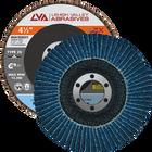 "4.5"" x 7/8"" Zirconia High Density Flap Disc Type 29 Conical | 120 Grit T29 | LVA CFCAS45J120ZC"