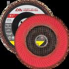 "4.5"" x 7/8"" Ceramic Fillet Weld Flap Disc Type 27 Flat | 40 Grit T27 | LVA FD4.5-40CW"
