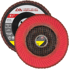 "4.5"" x 7/8"" Ceramic Fillet Weld Flap Disc Type 27 Flat | 60 Grit T27 | LVA FD4.5-60CW"