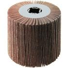 4 x 4 x 3/4 In. Quad-Keyway Abrasive Flap Wheel Drum / Roll   120 Grit Aluminum Oxide   Wendt 323166