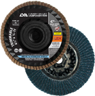 "5"" x 5/8""-11 Zirconia Threaded Trimmable Flap Disc Type 27 Flat   80 Grit T27   LVA CFFAT50S080ZC"