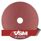 "4.5"" x 7/8"" Resin Fiber Discs (Pack Qty: 50) | 50 Grit AO | VSM KF708 85454"