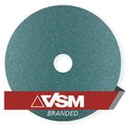 "4.5"" x 7/8"" Resin Fiber Discs (Pack Qty: 50) | 24 Grit Zirconia | VSM ZF713 91597"