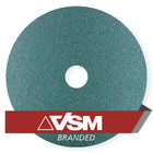 "4.5"" x 7/8"" Resin Fiber Discs (Pack Qty: 50) | 100 Grit Zirconia | VSM ZF713 407722"