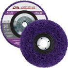 """4"""" x 5/8-11"""" Non-Woven Fiberglass Backed T27 Clean & Strip Disc (Purple / Ultra Coarse)"""