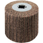 4 x 4 x 3/4 In. Quad-Keyway Interleaf Flap Wheel Drum / Roll | 80 Grit Aluminum Oxide | Metabo 623484000
