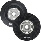 "5"" Medium Rubber Backing Pad w/ Nut for Resin Fiber Discs 
