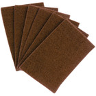 "6"" x 9"" Hand Pad Non-Woven Heavy Duty A/O Coarse (Brown / Tan) 