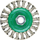 "4-1/2"" x 5/8-11"" Knot Wheel Wire Brush (stainless steel)"