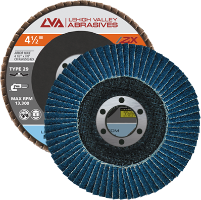 "4.5"" x 7/8"" Zirconia Flap Disc Type 29 Conical | 40 Grit T29 | LVA CFCAS45S040ZX"