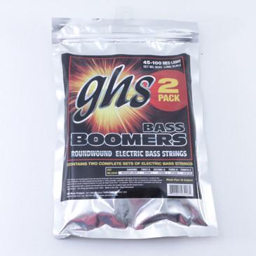 GHS Medium Light Roundwound Bass Guitar Strings (2 Pack) OS-7762