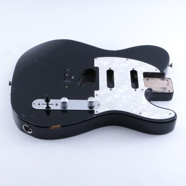 2002 Fender Japan MIJ Nashville Deluxe Telecaster Black Alder Guitar Body