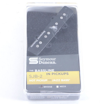 Seymour Duncan SJB-2 Hot Jazz Bass Bridge Bass Guitar Pickup Black
