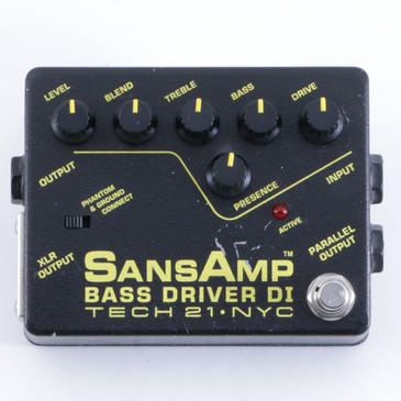 Tech 21 Bass Driver DI EQ & Overdrive Bass Effects Pedal P-04052