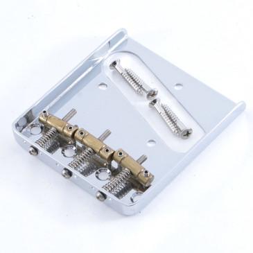Fender Lite Ash Telecaster w/ Brass Saddles Bridge Chrome Finish BR-4578