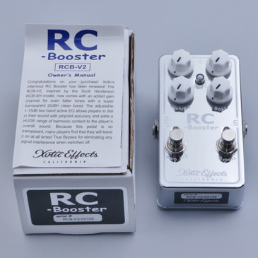 OPEN BOX Xotic RC Booster Version 2 Guitar Effects Pedal