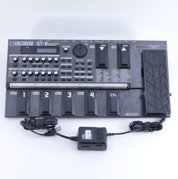 Boss GT-8 Multi-Effects Pedal & Power Supply P-04695