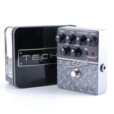 Tech 21 U.S. Steel Distortion Guitar Effects Pedal w/ Box P-05164