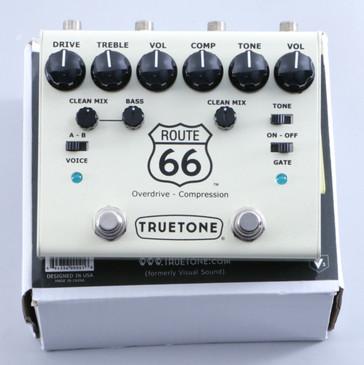 TrueTone Route 66 V3 Compressor / Overdrive Guitar Effects Pedal P-05219