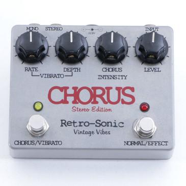Retro-Sonic Stereo Chorus Guitar Effects Pedal P-05679