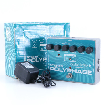 Electro-Harmonix Stereo Polyphase Phaser Guitar Effects Pedal P-05747