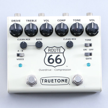 TrueTone Route 66 Overdrive / Compressor Guitar Effects Pedal P-05770