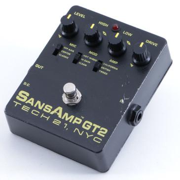 Tech 21 SansAmp GT2 Overdrive Guitar Effects Pedal P-05824