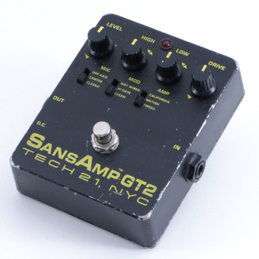 Tech 21 SansAmp GT2 Overdrive Guitar Effects Pedal P-05865