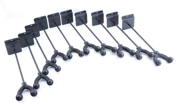 "(10) On Stage Stands 11"" Guitar Slat Wall Hangers w/ Adjustable Angle OS-8103"