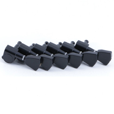 (6) Yolnth Standard Right Handed Tuning Pegs Black Finish TU-4084
