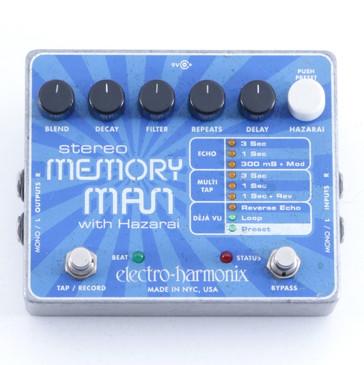 Electro-Harmonix Stereo Memory Man w/ Hazarai Delay Guitar Effects Pedal P-06219
