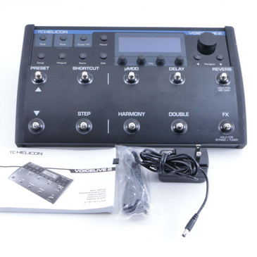 TC Helicon Voicelive 2 Vocal Multi-Effects Pedal & Power Supply P-06402