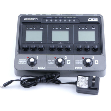 Zoom G3 Guitar Multi-Effects Pedal & Power Supply P-06483
