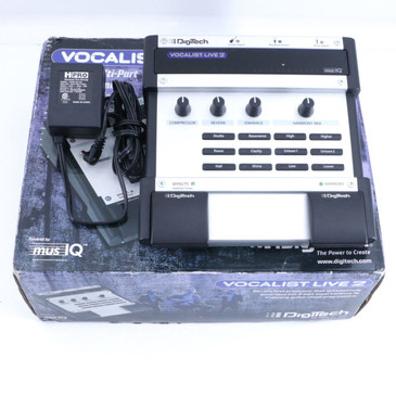 Digitech Vocalist Live 2 Vocal Multi-Effects Pedal & Power Supply P-06532
