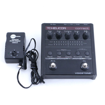 TC Helicon Correct Vocal Effects Pedal & Power Supply P-06588
