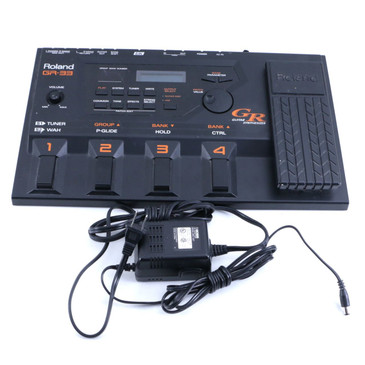 Roland GR-33 Guitar Synthesizer Guitar Multi-Effects Pedal & Power Supply