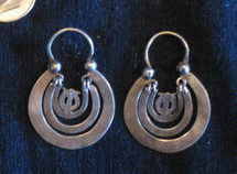 Mayan Antique Silver Earrings #28