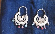 Mayan Antique Silver Earrings #16