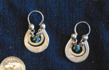 Mayan Antique Silver Earrings #29