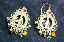 Mayan Antique Silver Earrings #1a