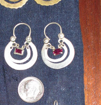 Mayan Antique Silver Earrings #33